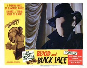 lobby card for Blood and Black Lace 1964