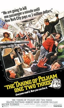 The Taking of Pelham  One Two Three - 1974 -  full color poster