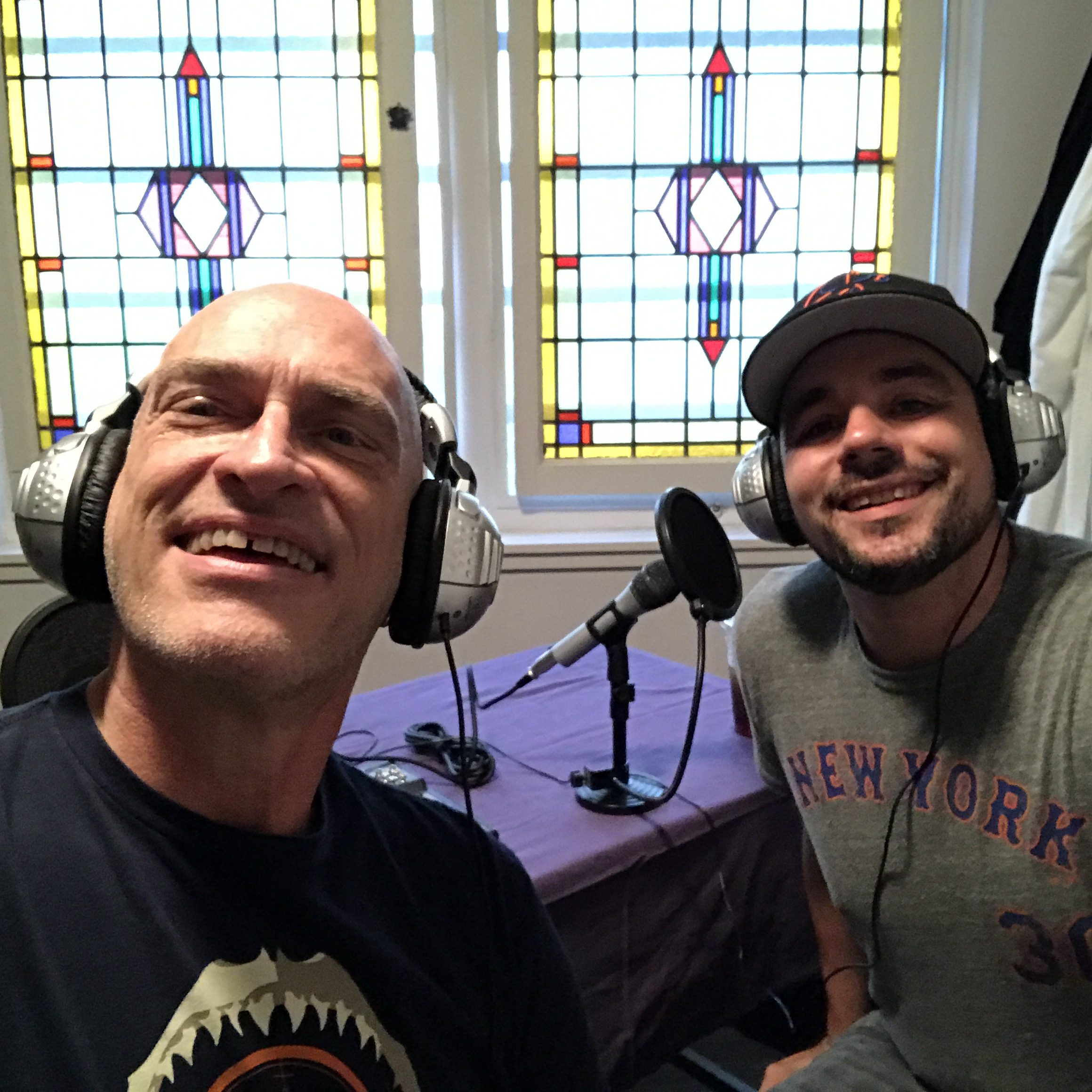 Jay and Paul recording Episode #10...We're in double-digits!